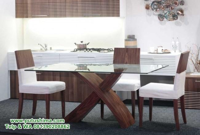 Model Meja Makan Mewah Kaca